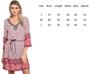 100% Cotton Multi Blue Color Dress w/Embellished Neck (41-32)