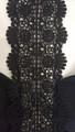 Elegant V-Neck Spaghetti Strap Black Jumpsuit w/Crochet Center (42-15)