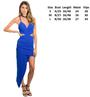 Sexy Asymmetric Spaghetti Strap Royal Blue Dress (26-48)