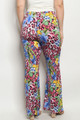 TROPICAL & ANIMAL PRINT MUTLI COLOR PALAZZO PLUS SIZE PANTS (46-14)