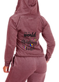 "Autism Awareness Ruby Red Hoody  ""In a World Where You Can Be Anything Be Kind"""