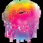 """Lips like Sugar"" Colorful Lips Graphic Tee-Coral"
