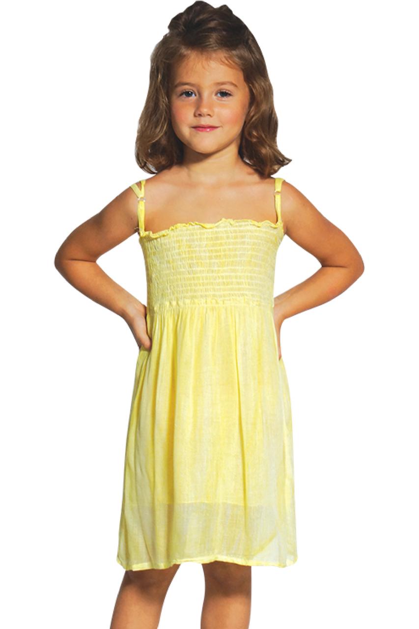 KIDS / GIRL'S LIME GREEN TIE DYE STRAPLESS DRESS WITH OPTIONAL SPAGHETTI STRAPS!  (B-79)