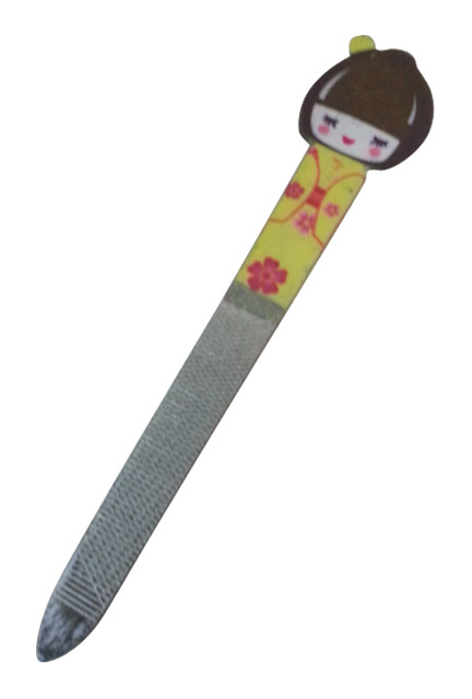 GIFT ITEM   Geisha Girl   Japanese Nail File   Yellow.