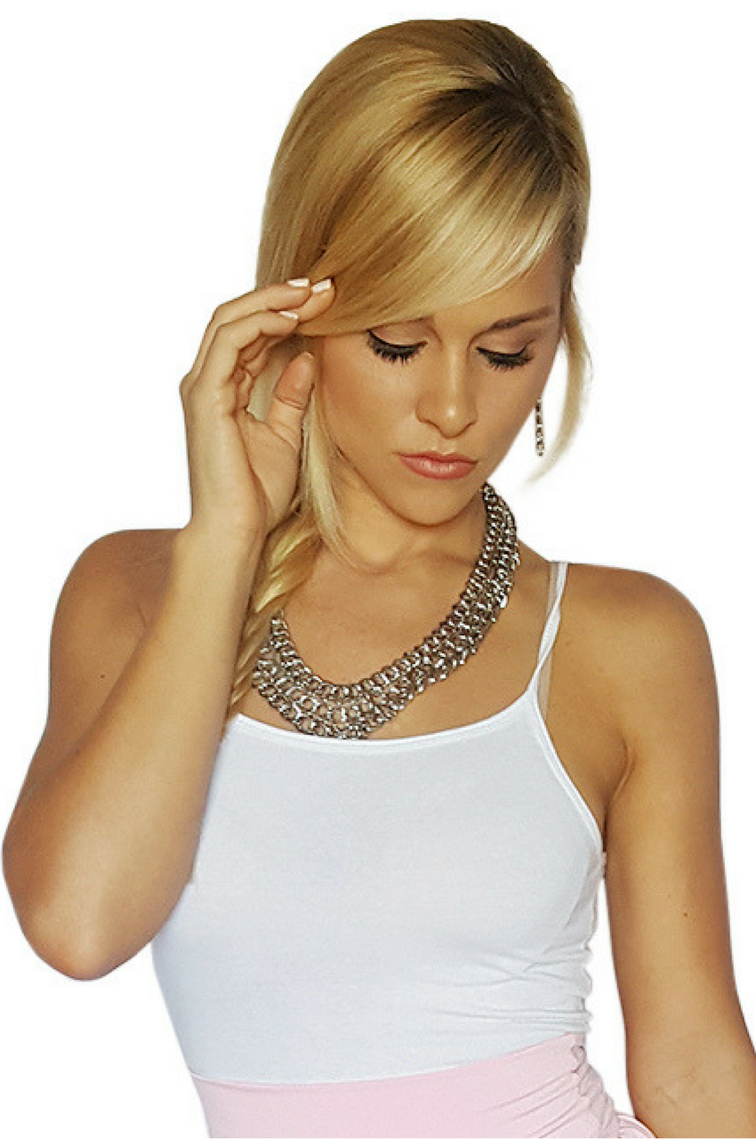 NECKLACE & EARRINGS SET | HEAVY DUTY | 18in CHAIN | COLOR: SILVER CHROME