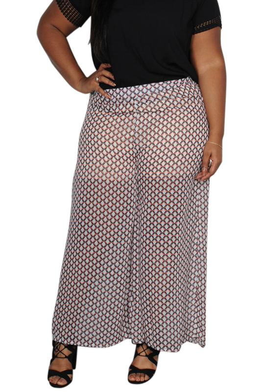 exceptional range of styles and colors high quality up-to-date styling PLUS SIZE GEO PRINT PALAZZO PANTS. 70% RAYON. (D-157) 0 star rating Write a  review