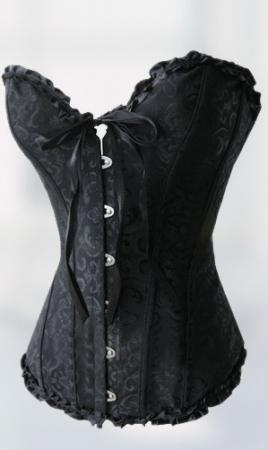 da1fa85c146 Sexy Florentine Print Black Overbust Corset (6-3) - 5dollarfashions.com