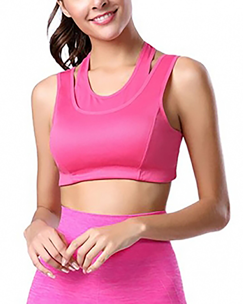 Yoga HOT Pink Padded | Wireless Sports Bra (14-13)