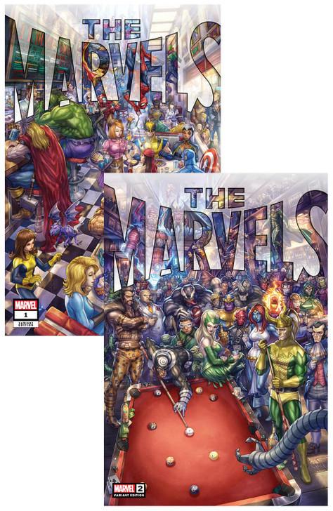 The Marvels #1 & #2 Alan Quah Trade Variant SET