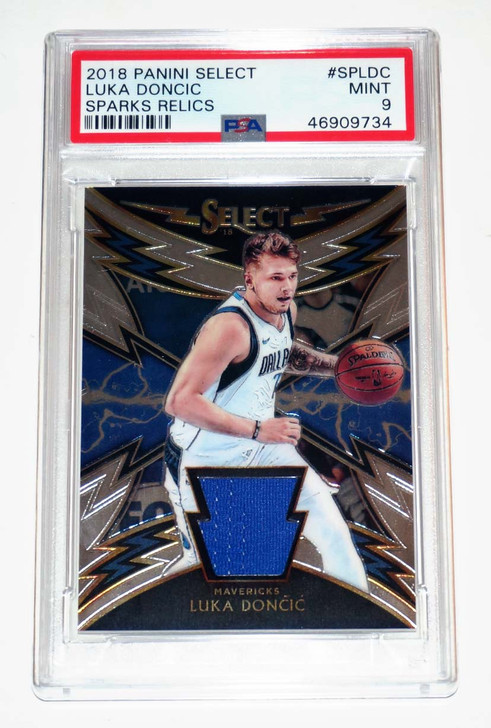 2018 Panini Select Sparks Relic Rookie Luka Doncic PSA 9