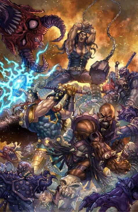 Gods of Brutality #1 Alan Quah Virgin Variant