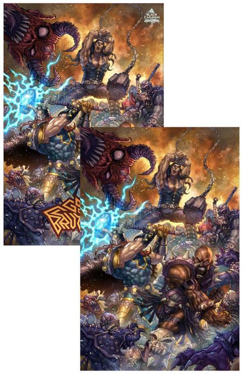 Gods of Brutality #1 Alan Quah Virgin Variant Set