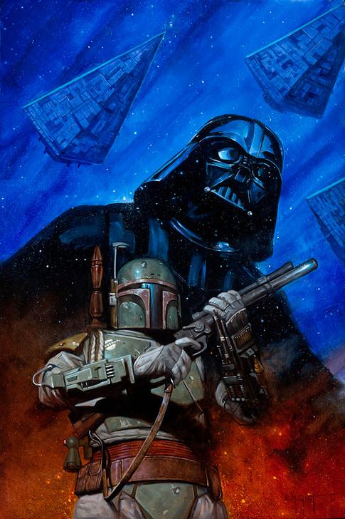Star Wars War of the Bounty Hunters #3 E.M. Gist Virgin Variant