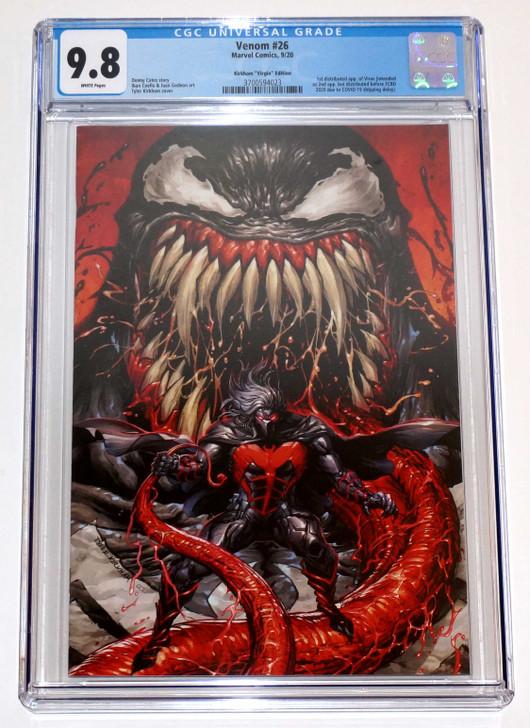 Venom #26 Tyler Kirkham Secret Virgin Variant CGC 9.8