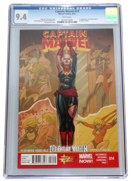 Captain Marvel #19 CGC 9.4 1st Kamala Khan Cameo