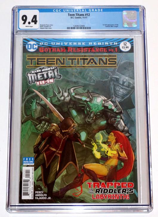 Teen Titans #12 CGC 9.4 1st Batman Who Laughs