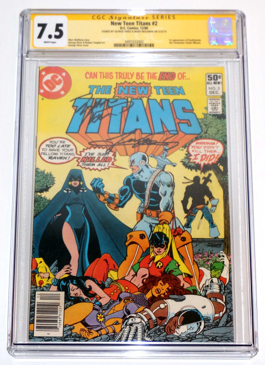 Teen Titans #2 CGC 7.5 signed Perez & Wolfman