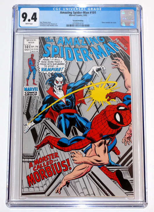 Amazing Spider-Man #101 CGC 9.4 2nd Print 1st Appearance of Morbius