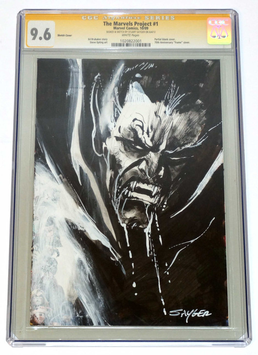 Marvels Project #1 CGC 9.6 Original Dracula Sketch by Sayger