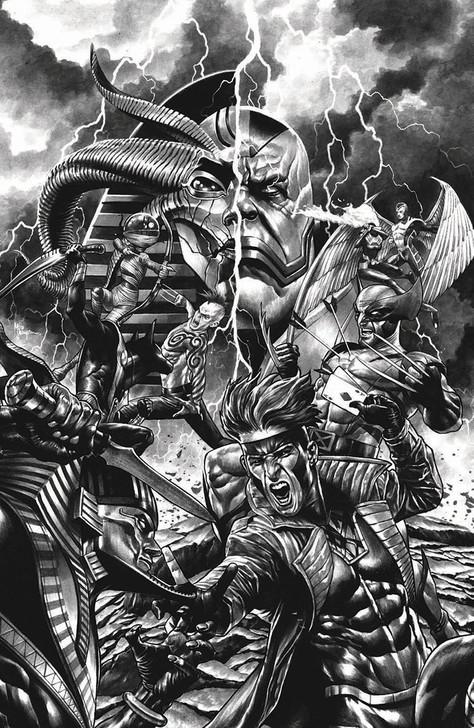 X of Swords Destruction #1 Mico Suayan B&W Virgin Variant