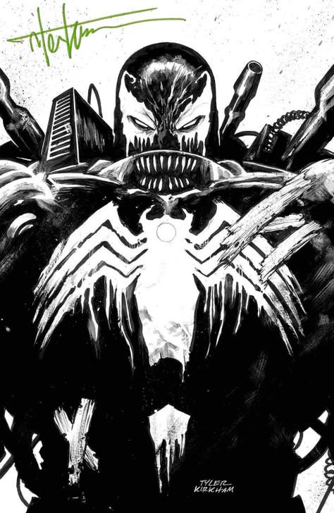 Venom #26 Tyler Kirkham B&W Virgin Variant Signed by Tyler Kirkham