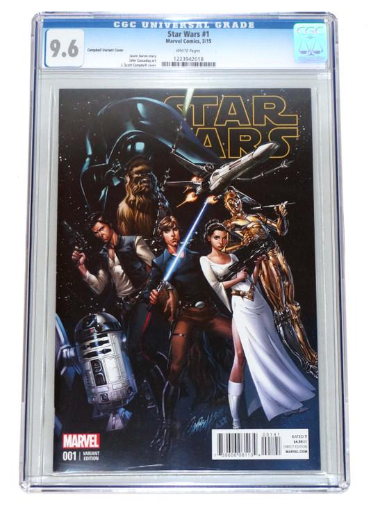 Star Wars #1 CGC 9.6 J Scott Campbell Variant