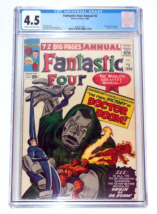Fantastic Four Annual #2 CGC 4.5 Origin of Doctor Doom