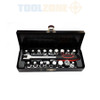 Oil Drain Sump Plug Key Set Universal Hex Square Triangle 18pc 3/8 inch Drive