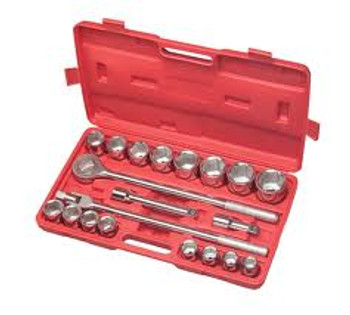"Neilsen 21 Pcs ¾"" Drive Socket set"