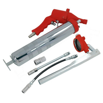 Air Grease Gun 400cc (With 4 Accessories - With Manual Handle)