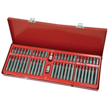 54pc Bits Hex Star Torx Spline Flat Screwdriver Bit Set