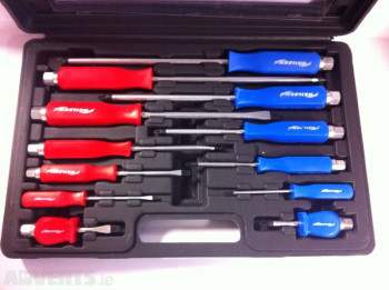 12 pc Pound Thru Screwdriver Set