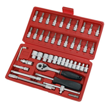 46pc 1/4 inch Drive Socket and Bit Set