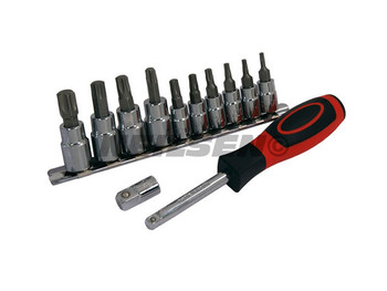 Star Bit Set with Driver - 12pc