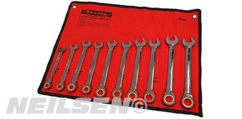 Ratchet Combination Wrench Set - 10pc