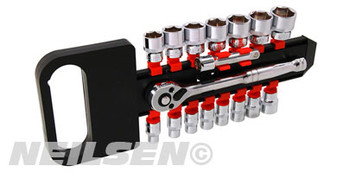 "Socket Set - 17pc with Ratchet 3/8"" Drive"