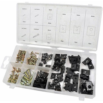 170 pc Screw and U-type Cushion Assortment
