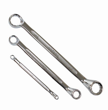 Double Ring Offset Spanner Set - 12pc