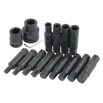 Large Sizes Hex / Star Bit and E-Socket Set