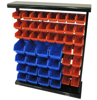 Storage Rack 32 Small Bins And 15 Large
