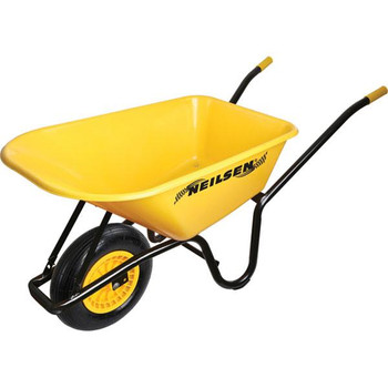 90L Plastic Barrow With Air Filled Tyres