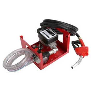 12v Diesel Fuel Transfer Dispenser Pump - With Hose, Nozzle And Flow Meter