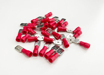 100Pc Red Male Terminals
