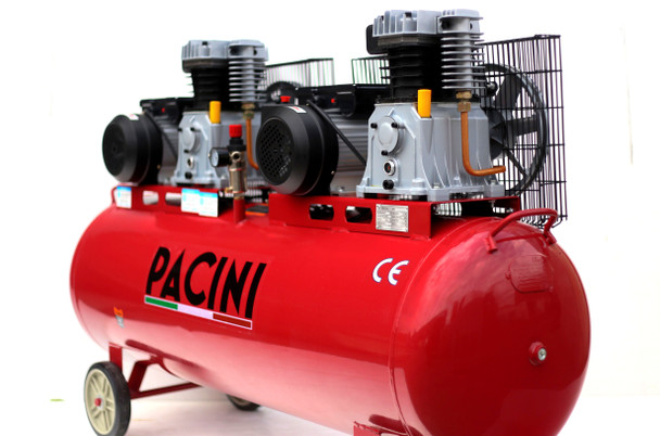 Pacini 300 Litre Tandem Compressor 6HP Single Phase