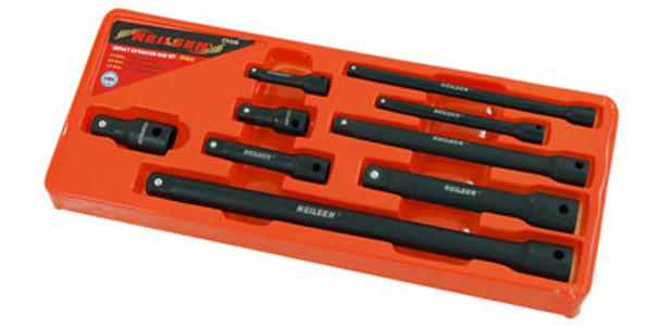 "9 Pc 1/4"", 3/8"" & 1/2"" Drive Impact Extension Bar Set"