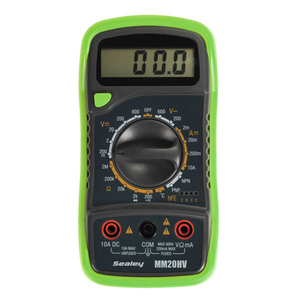 Digital Multimeter 8 Function with Thermocouple Hi-Vis
