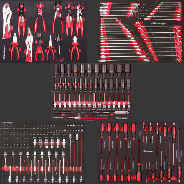 Mega Tool Cabinet Red With Tools