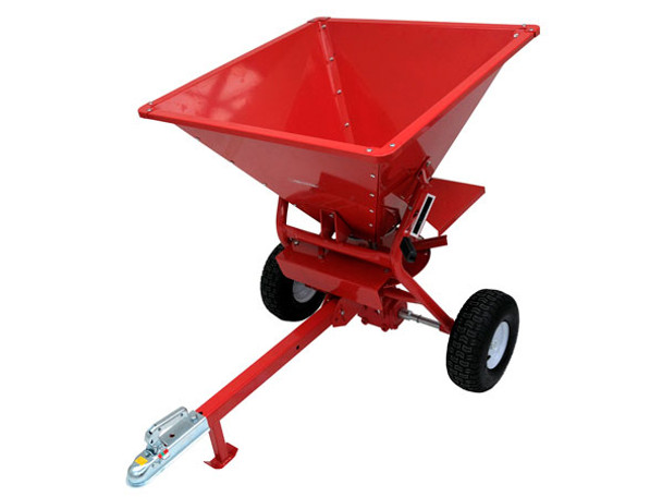 Spreader 350lb Tow Behind Atv For Spreading Seed, Fertilizer, Grit And Sand