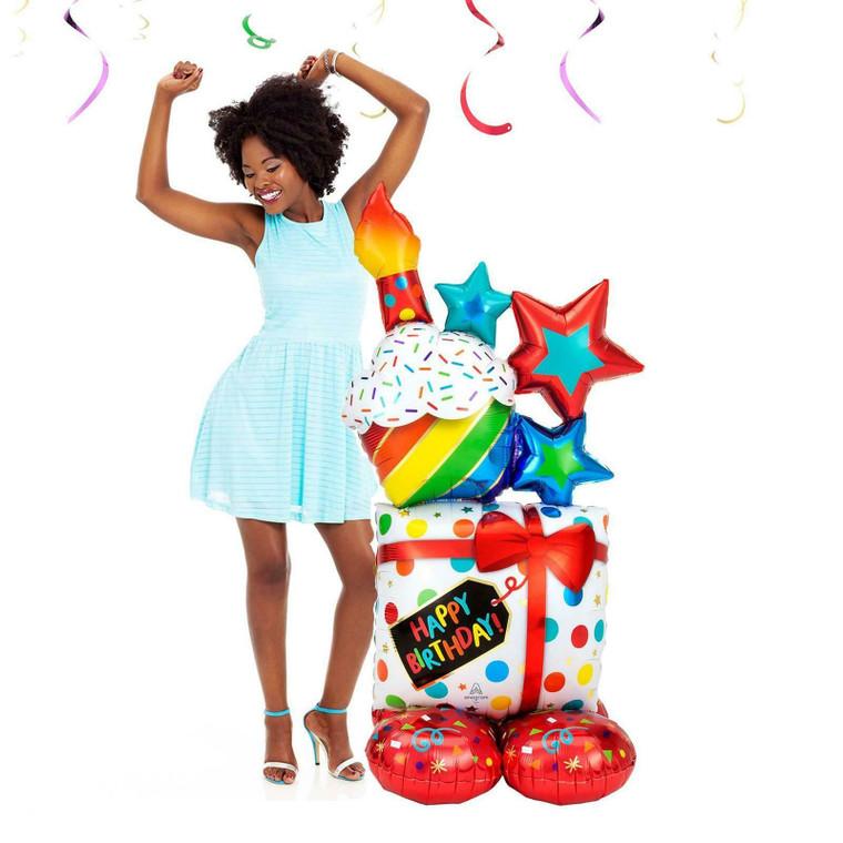 139cm Giant Happy Birthday Airloon Balloon