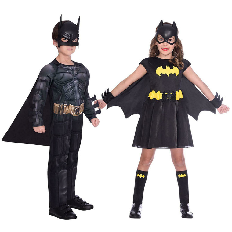 Official Kids Superhero Dark Knight Batman Classic Batgirl Fancy Dress Costume